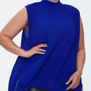 Forever 21 Pleated Chiffon Top